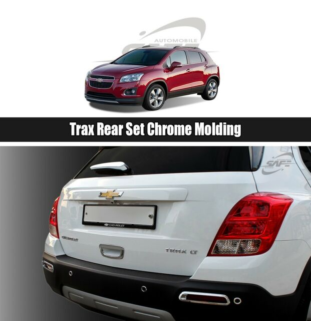 Rear Chrome Tail Light Lamp Trim Cover Molding For Chevrolet Trax