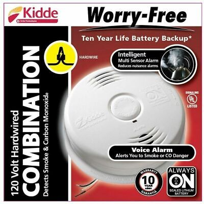 Kidde Worry Free Hardwire Smoke And Carbon Monoxide Combination Detector