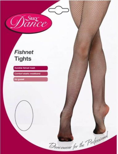 Free P/&P Ladies Fishnet Dance Tights Black or Natural Small Medium Large /& XL