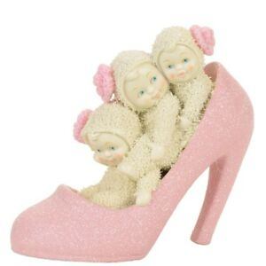 Snowbabies If The Shoe Fits Pink Heel Porcelain Figurine