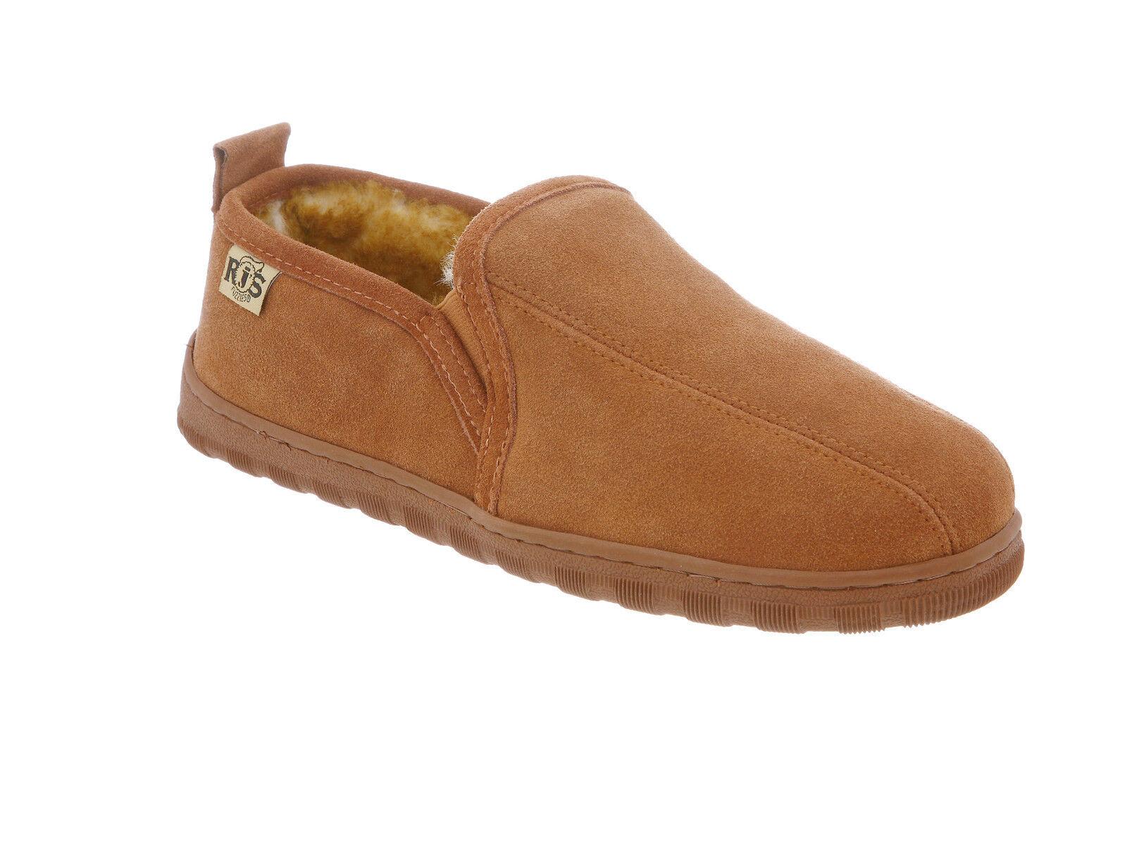 Rj De Fuzzies Piel De Oveja Para Hombre Romeo Slipper Zapato Castaño Medio (D, M) Talla 11m
