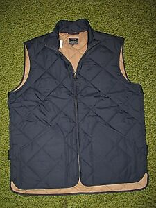 150-Men-039-s-XL-J-CREW-Navy-Blue-Quilted-Vest