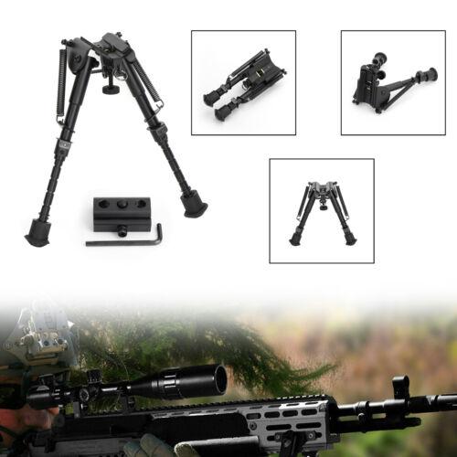 Universal Zweibein 6-9 Inches Spring Metal Sling Swivel Rifl Jagd//+Adapter