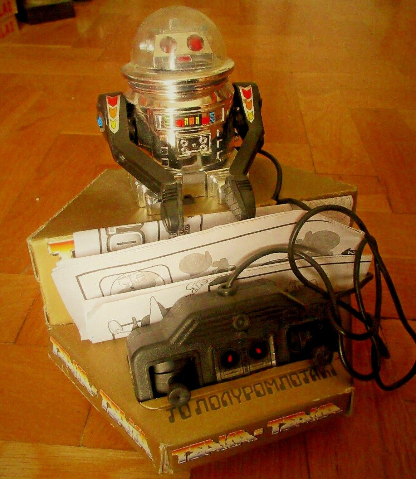 AMAZING GREEK SPACE ROBOT R/C BATTERY OPERATED BY EL GRECO MIB