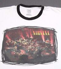 XL * vtg 90s 1996 NIRVANA Unplugged ringer t shirt * 26.117