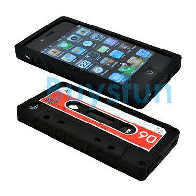 Cassette Tape Silicone Case Cover for Apple iPhone 4 4G