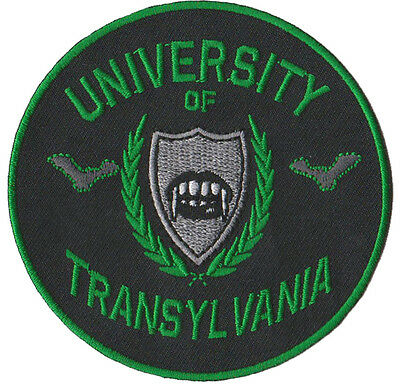 A1900 Aufnäher Patch Vampir Horror Dracula Zombie University of Transylvania