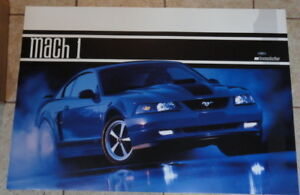 FORD MUSTANG MACH 1  POSTER - NEW! NO BOUNDARIES NICE!