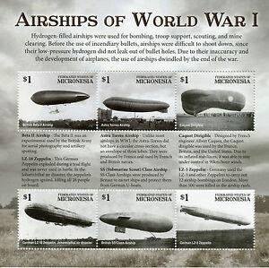 Micronesie-2015-neuf-sans-charniere-WWI-WW1-dirigeables-de-premiere-guerre-mondiale-I-6-V-M-s