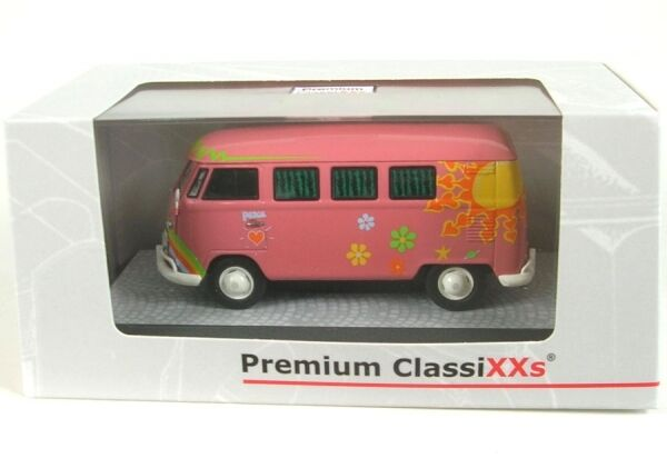 VW VW VW T1 Bus (dark pink) Flower Power 12a9a7