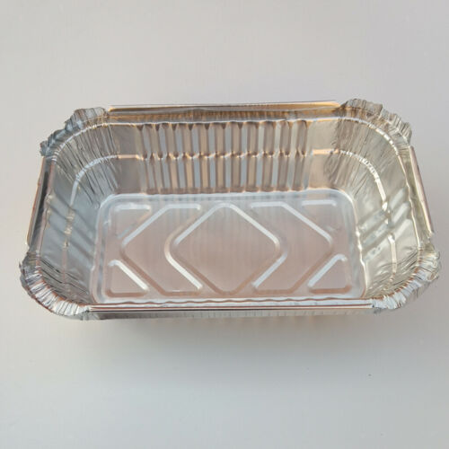 10x Aluminum Foil Grill Drip Pans for BBQ Meat Weber Grills Roasting