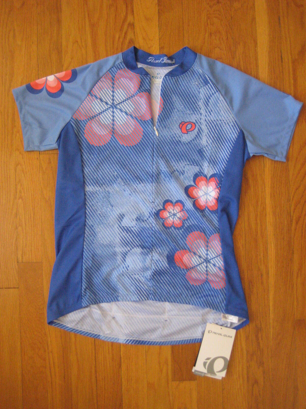 NEW Pearl Izumi W Select LTD womens JERSEY bluee pink flower cycling bike L large