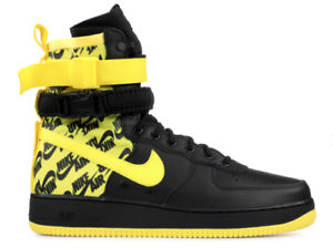 Nike SF AF1 Air Force 1 Men's shoes Black Yellow AR1955-001 Sz 12 Free Shipping