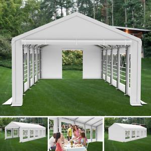 Fabulous 5x8m Partyzelt Festzelt Pavillon Garten Gartenzelt Bierzelt STABIL CI86