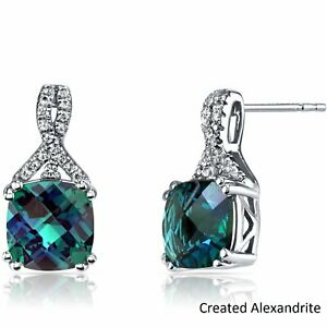 14K-White-Gold-Plated-Round-Cut-2-00-Carats-Created-Alexandrite-Stud-Earrings
