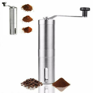 Stainless Steel Coffee Grinder Manual Bean Grinding Spice/Nuts Hand Tool Mill