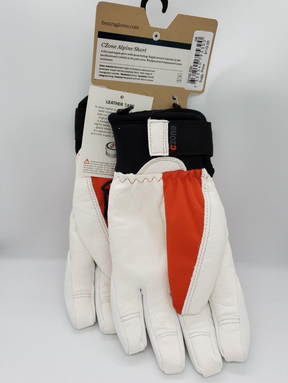 Neu Hestra 7/8 Czone Alpine Kurz Leder Handschuhe Größe 7/8 Hestra (S/M) 568713
