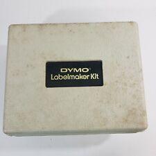 Vintage Dymo Labeling Kit M 6 In Case Extra Wheel Extra Tape Label Maker