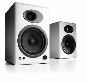Audioengine-A5-Classic-Speakers-Pair-White-NEW-Free-Shipping-Warranty