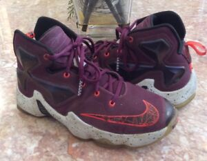 76ce530d595 Nike Lebron 13 XIII Kid s Burgundy Basketball Shoes Size 5.5Y ...