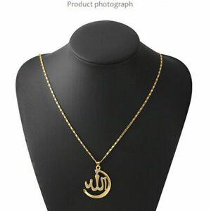 Allah-Halskette-Islamisch-Muslim-Kette-Anhaenger-Muhammed-Schmuck-Geschenk-Silber