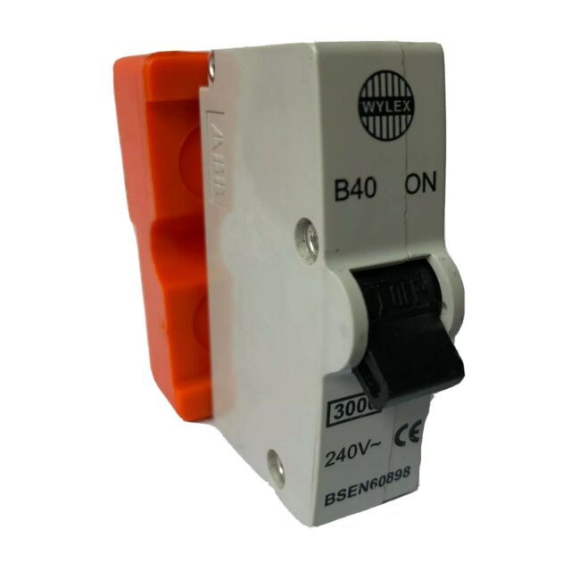 NO BASE ABB WYLEX 40 AMP MCB PLUG IN B40 PUSH IN
