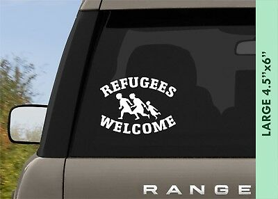 REFUGEES WELCOME Decal Bumper Sticker