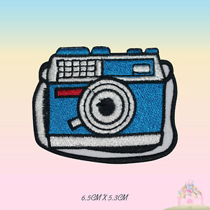 Cute Camera Embroidered Iron On Sew On Patch Badge For Clothes etc