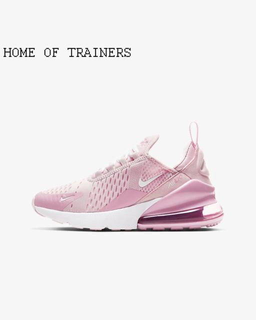Nike Air Max 270 Pink Schaum Pink Aufstieg weiß Kinder Jungen Mädchen Sneaker