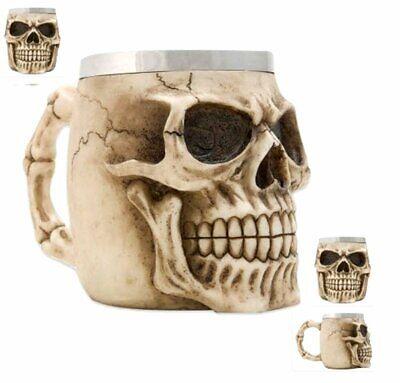 NEW Skull Beer Stein Tankard Wine Cup Mug Bones Skeleton Halloween DOD SK23