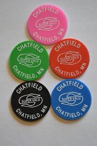 Food Stamp Tokens Set 5 Chatfield Super Valu Chatfield Mn Ebay