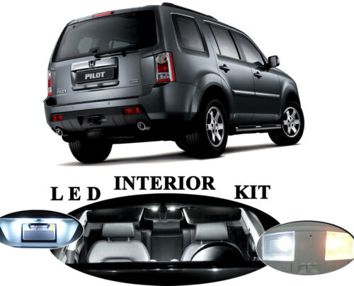 License Plate Vanity for Honda Pilot Interior LED Package 17 pieces