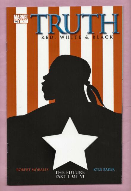 TRUTH red white & black ISAIAH BRADLEY Captain America MARVEL 2003 HiGh GraDe NM