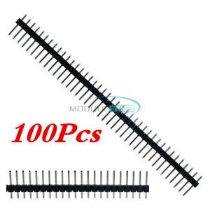 100PCS-40Pin-2-54mm-Male-PCB-Single-Row-Straight-Header-Strip-Connector-Arduino