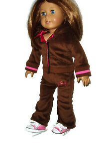 Jogging-Outfit-Fits-American-Girl-Dolls-18-034-doll-clothes-with-Pink-Sneakers