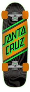 Santa Cruz Skateboard Street Skate Longboard Completo de calle, Negro/Naranja