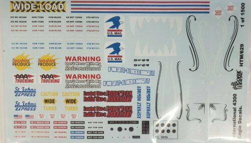 #HTM629 International 4300 Eagle Semi Truck Decals NEW Gofer Racing Decals