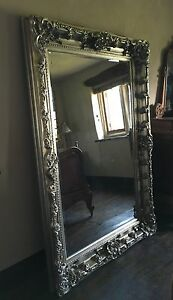 mirror 6ft x 4ft. image is loading champagne-antique-silver-ornate-french-dress-gilt-wood- mirror 6ft x 4ft t