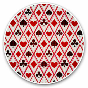 2-x-Vinyl-Stickers-7-5cm-Playing-Cards-Hearts-Spades-Cool-Gift-3724