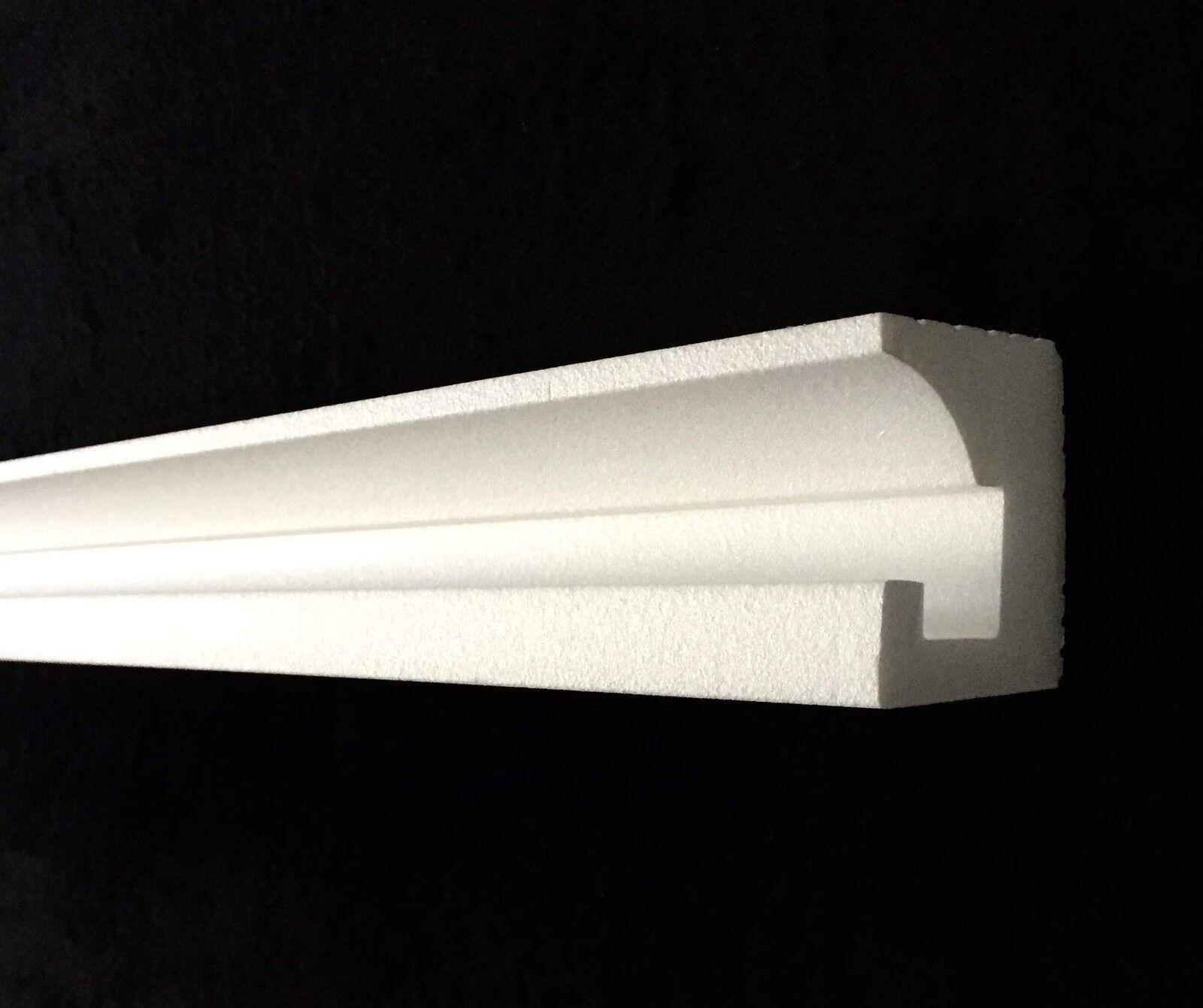 14 m LED Leiste indirekte Beleuchtung Lichtprofil Styroporleiste 2BAY009