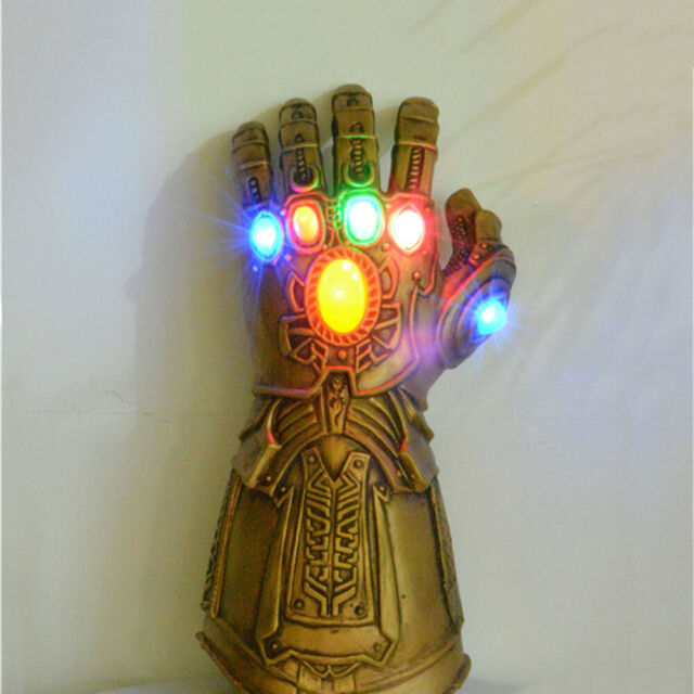 Gauntlet LED Light Thanos Gloves Cosplay Prop Avengers Infinity-War Infinity