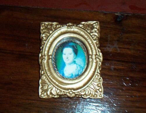 prachtvoller rechteckiger Bilderrahmen-ca.5,5cm x 7,5cm Miniatur 1:12 Frau 4
