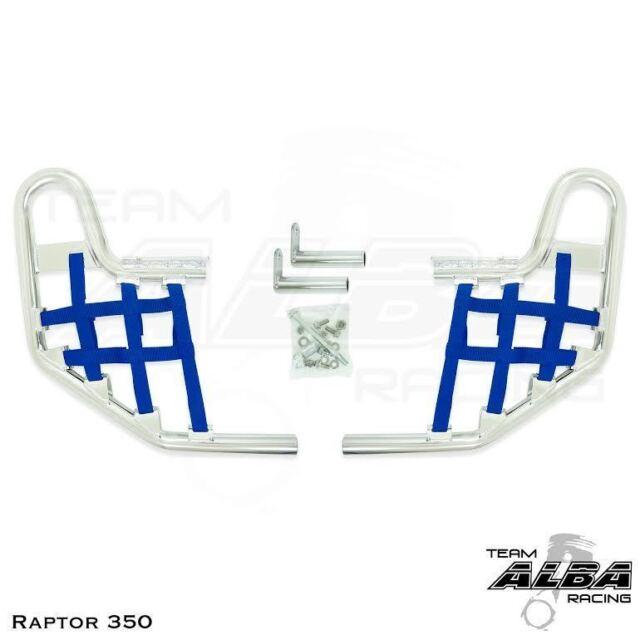 Yamaha  Raptor 350   Nerf Bars   Alba Racing  Pro Elite  Silver Blue 209 T1 SL