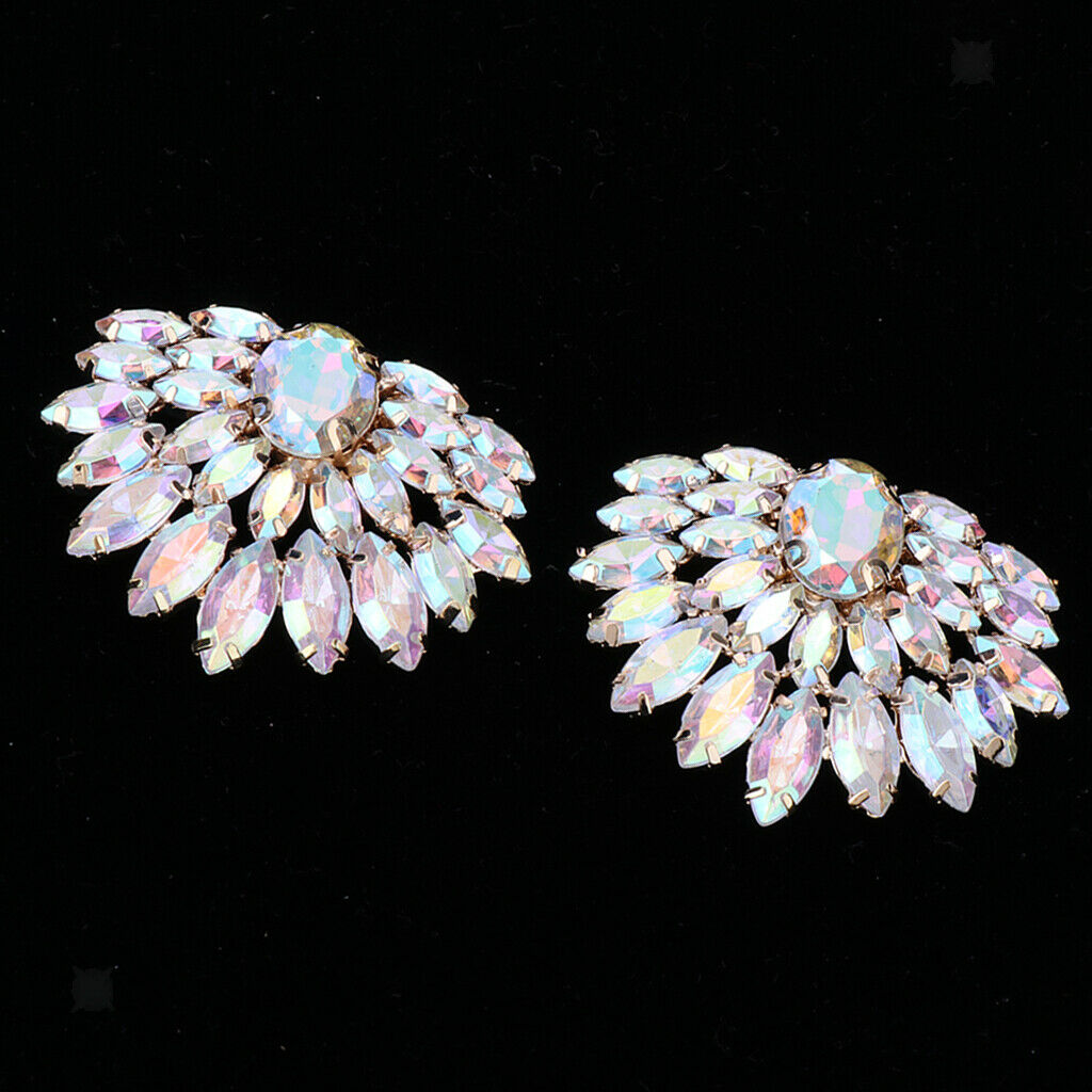 1 Pair Of Ladies Rhinestone Shoe Clips Shoe Jewelry For Shoes, Bags, Hats, - C,