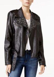 064f0cf0b Details about NWOT William Rast Kate studded Vegan Moto Jacket BLACK S  Small Justin Timberlake