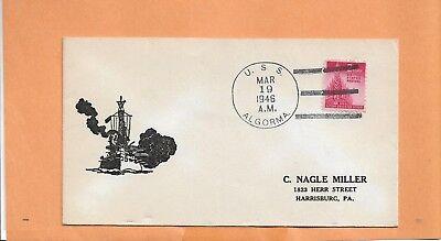 Briefmarken Nordamerika U.s.s.algorma März 19,1946 Marine Abdeckung