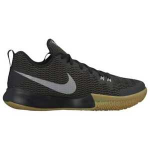 9f5400f91439 Mens Nike Zoom Live II Basketball Shoes Black Silver Grey Gray Gum ...
