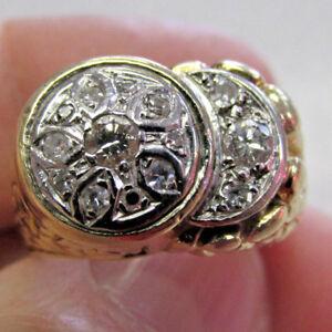 High-Quality-Estate-Unisex-Diamond-Ring-14k-Gold-size-9-circa-1950s-Make-Offer