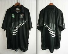 NEW ZEALAND BLACKCAPS CRiCKET JERSEY - LARGE Wstar black/caps/shirt Lloyds Bank