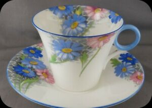 Shelley-Blue-Daisy-Pink-and-Blue-Trim-Cup-and-Saucer-12216